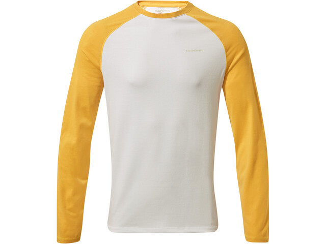 Craghoppers NosiLife Lorenzo T-shirt à manches longues Garçon, indian yellow/optic white